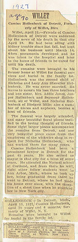 Cassius Hollenback's Obituary